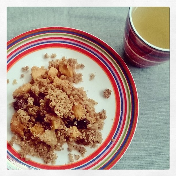 crumble appel peer